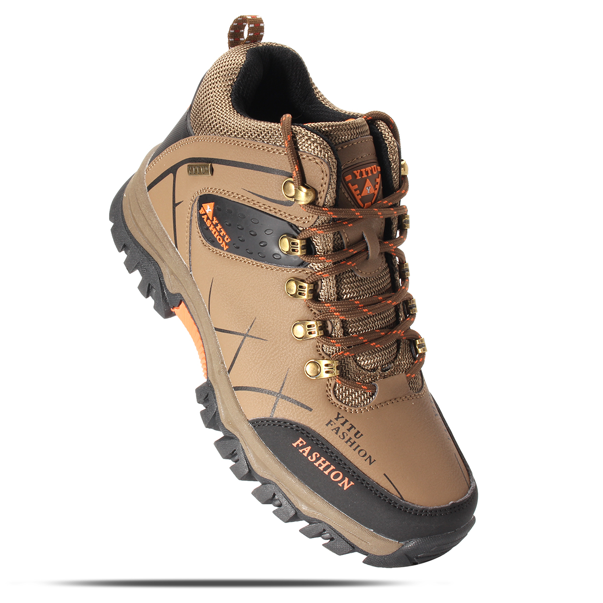 mens big size trail hiking boots waterproof athletic non