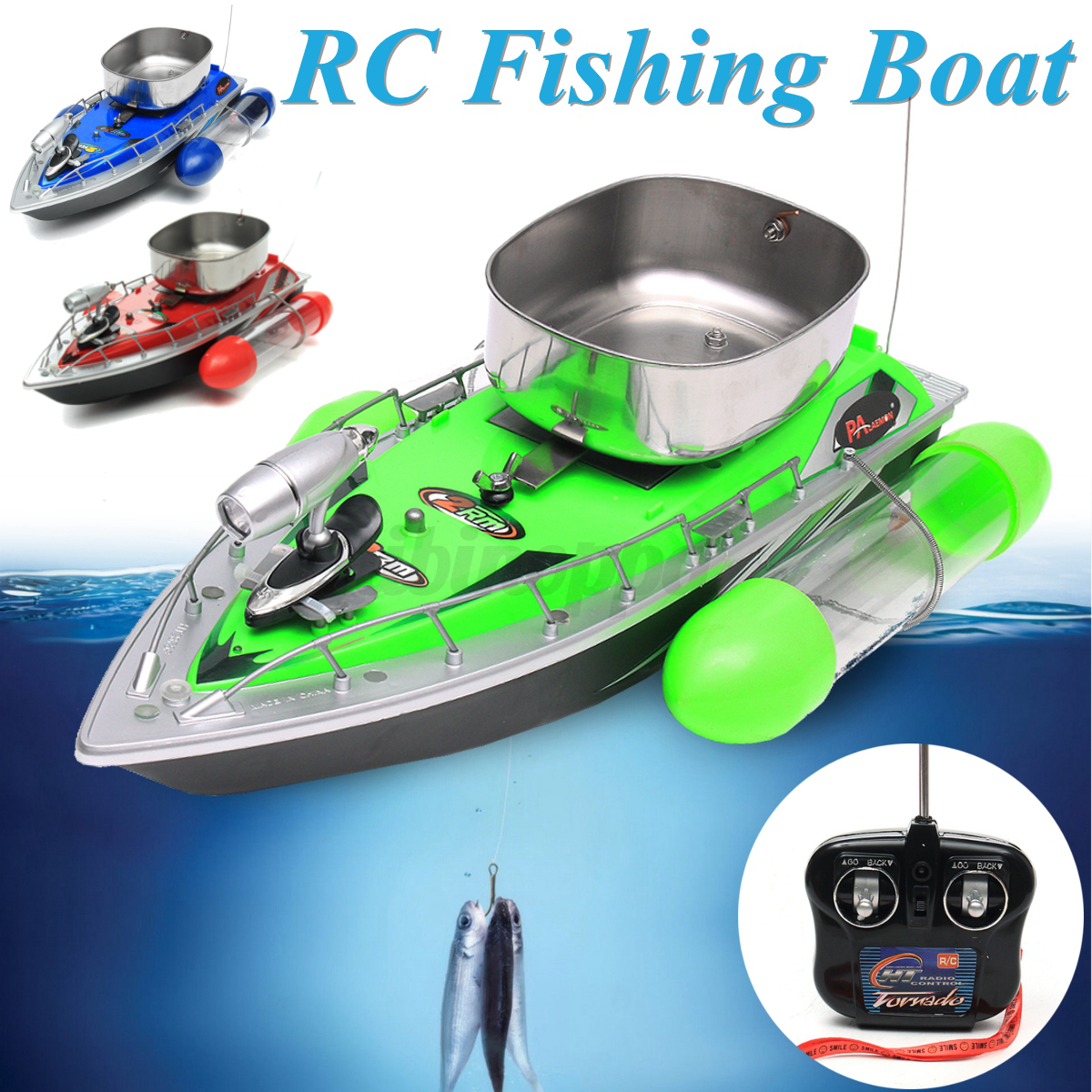 Mini RC Wireless Fishing Lure Bait Boat 300M Remote  Control Fish Finder W  Light  official authorization