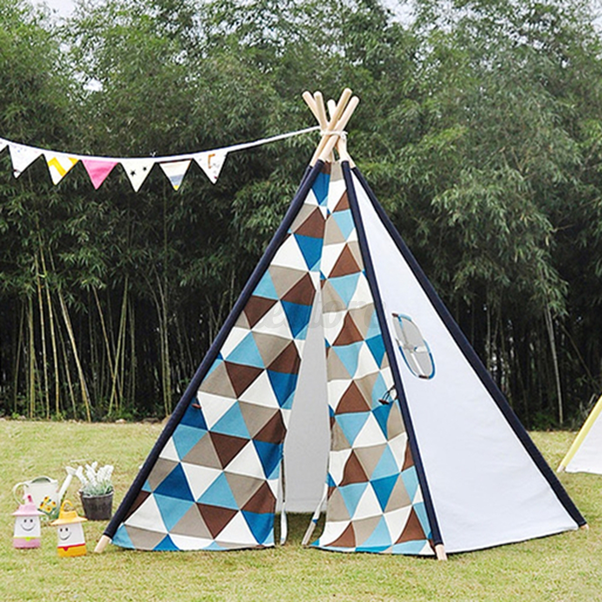 Childrenu0027s Kids Teepee Play Tent Indian wigwam Geometrie Pentago Base In/ Outdoor | eBay & Childrenu0027s Kids Teepee Play Tent Indian wigwam Geometrie Pentago ...