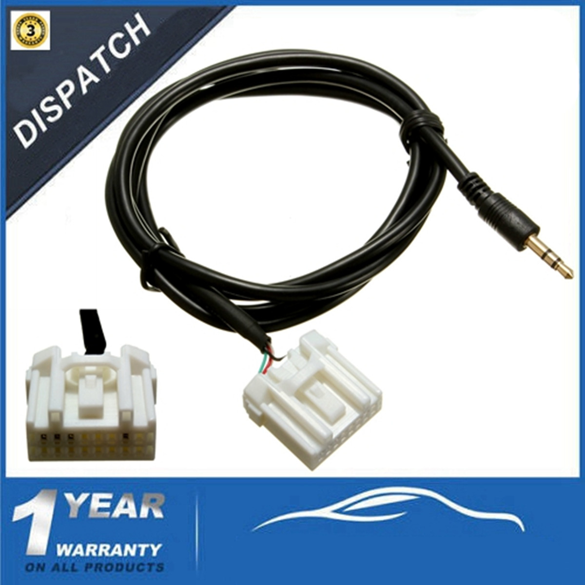 AUX 3.5mm Audio Cable Interface Adapter Lead for MAZDA 2 3 5 6 MX 5 ...