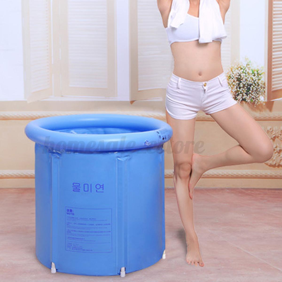 folding bathtub portable plastic tub foldable water place. Black Bedroom Furniture Sets. Home Design Ideas