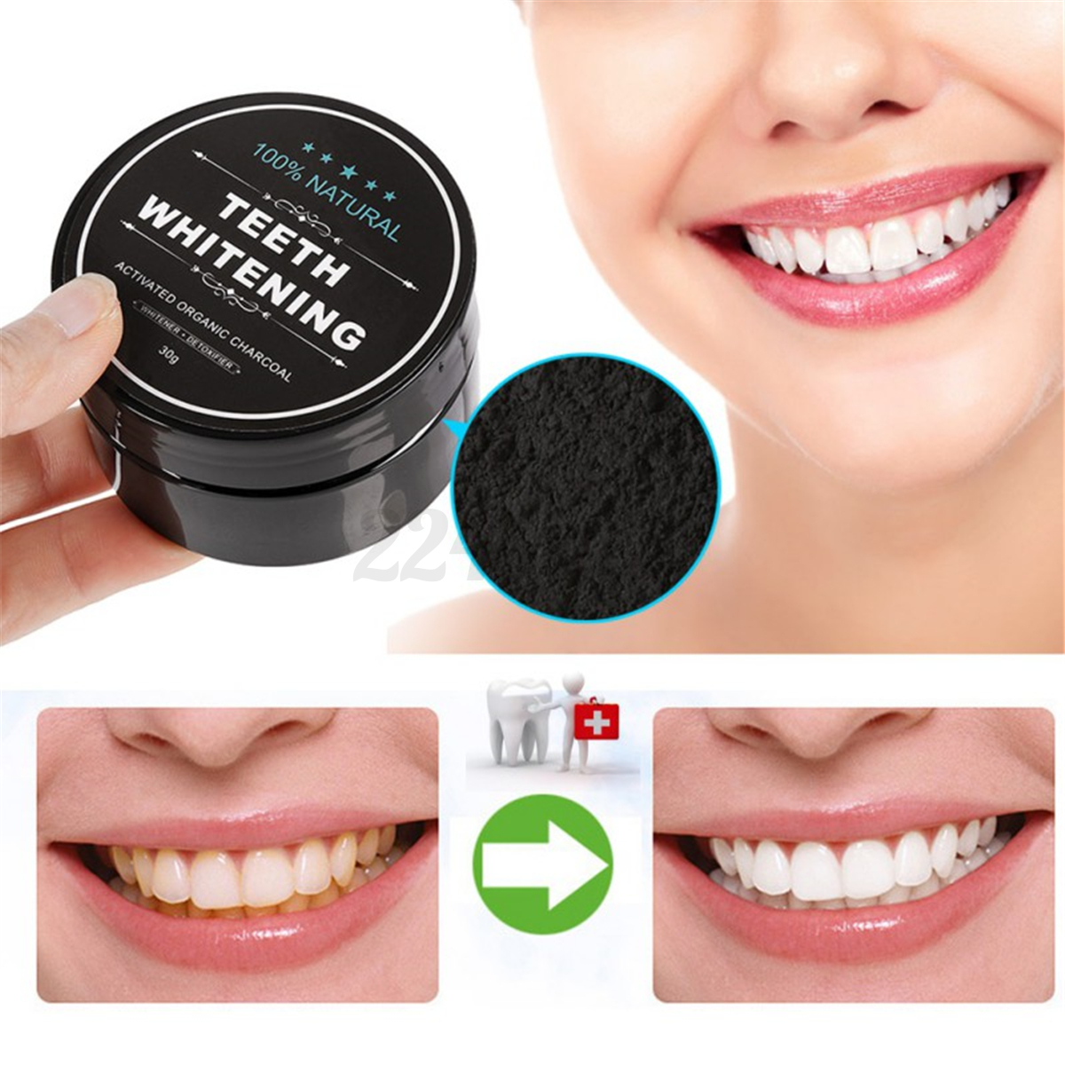 100 organic activated charcoal teeth whitening coconut shell powder carbon coco ebay. Black Bedroom Furniture Sets. Home Design Ideas