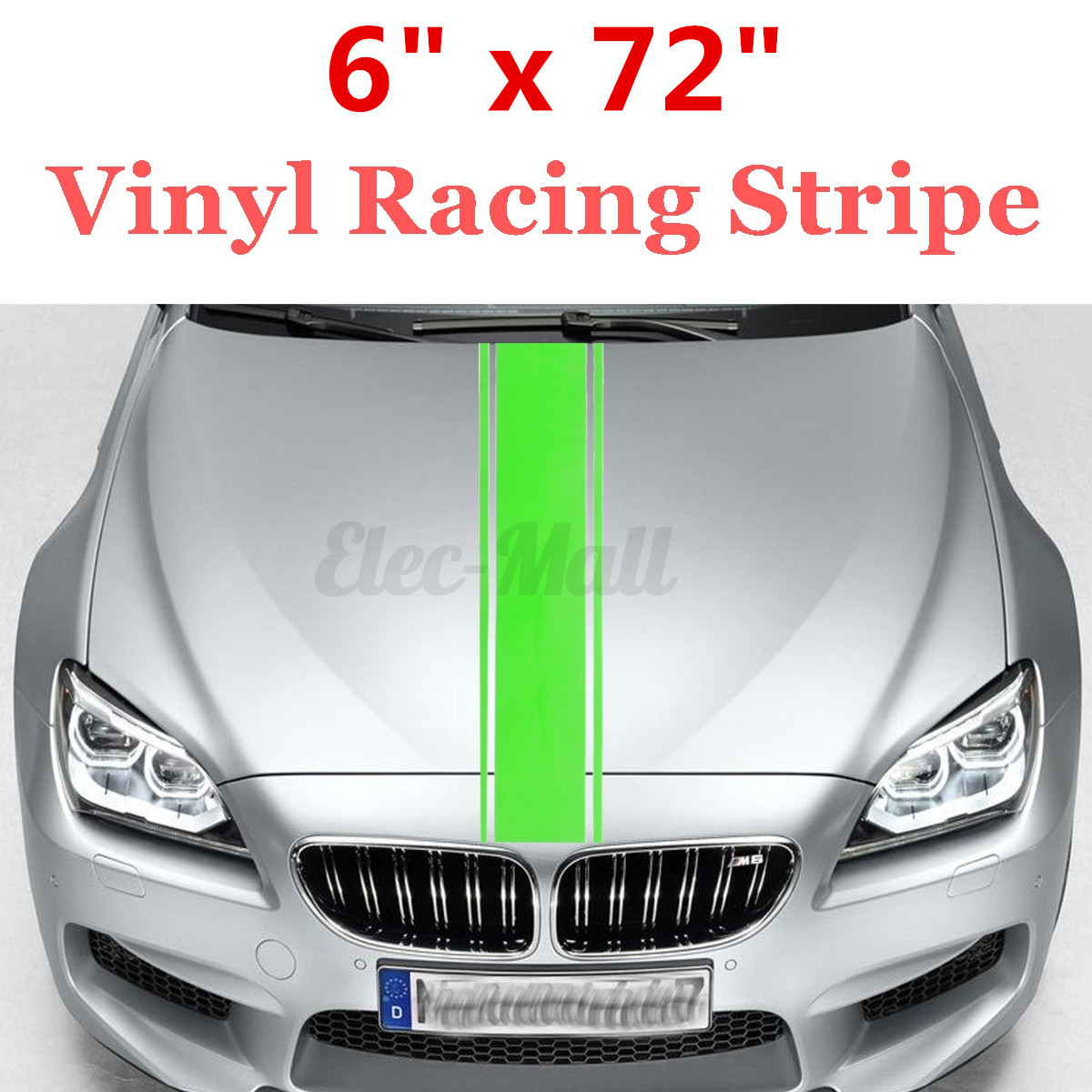 Details about universal 6x72 racing stripe vinyl pinstripe decal sticker car vehicle