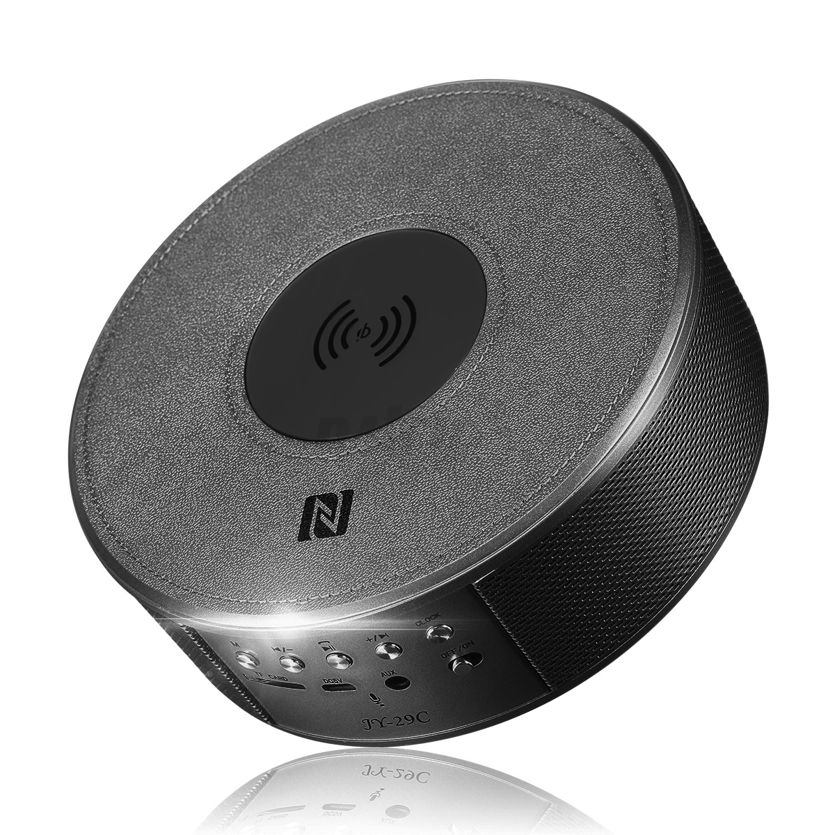 Qi-Wireless-Bluetooth-NFC-Speaker-Power-Bank-Alarm-Clock-Charging-Dock-Station