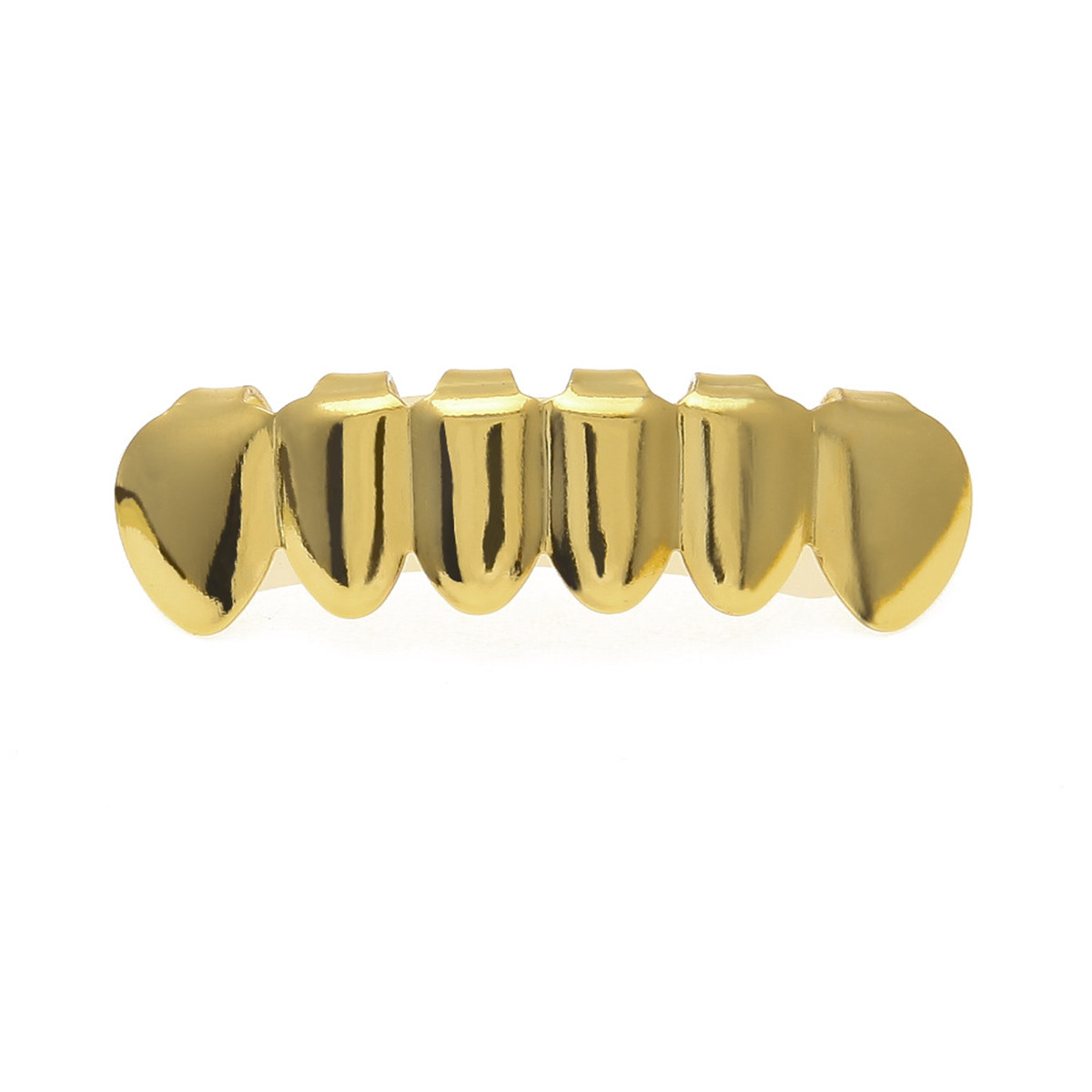 Gold-Plated-Tooth-Grill-Set-Hip-Hop-Diamond-Teeth-Custom-Mouth-Cap-Top-Bottom thumbnail 12