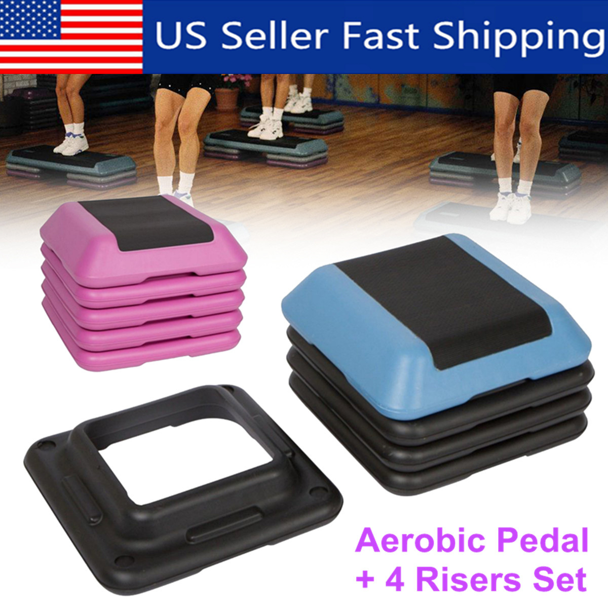 16-039-039-Aerobic-Step-4-Risers-Fitness-Exercise-Stepper-Cardio-Workout-Pedals