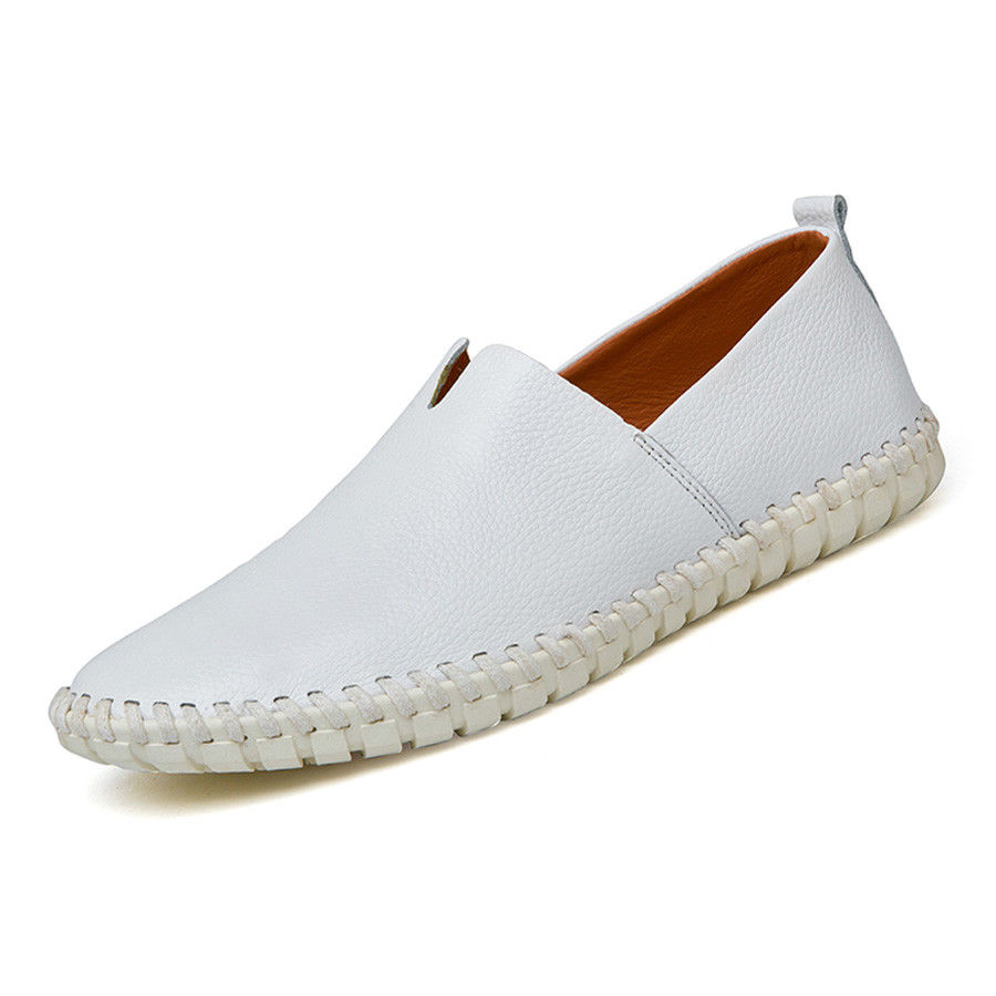 New-Men-Driving-Casual-Boat-Genuine-Leather-Flat-Moccasin-Loafers-Slip-On-Shoes
