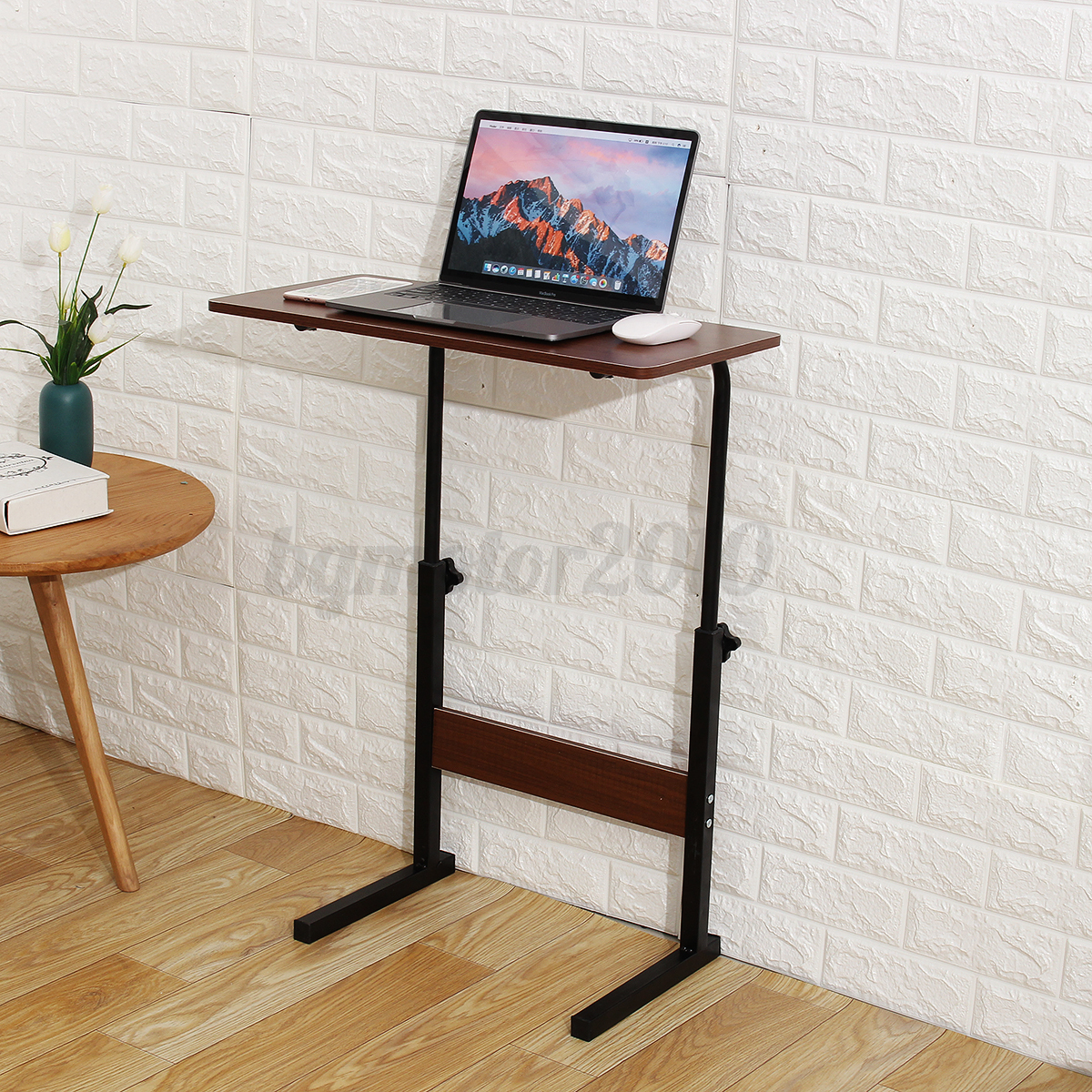 Adjustable Height PC Computer Rolling Desk Laptop Table Cart