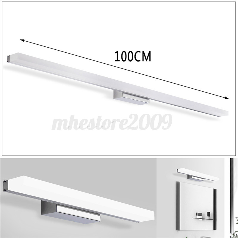 Bathroom Vanity Light Acrylic Led Mirror Front Light Make Up Wall Lamp Fixtures: Modern Bathroom Toilet Vanity Wall Makeup Light Mirror Front LED Lamp AC85-265V