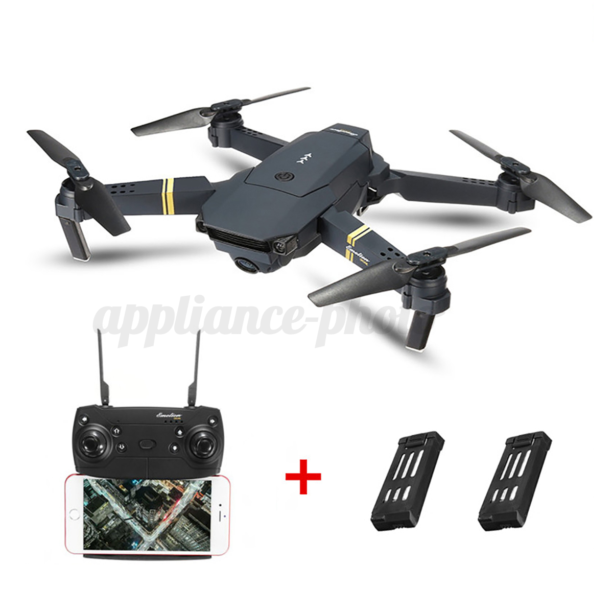 Eachine E58 WIFI FPV 2MP/0.3MP Camera Foldable RC Drone Quadcopter 1/2/3