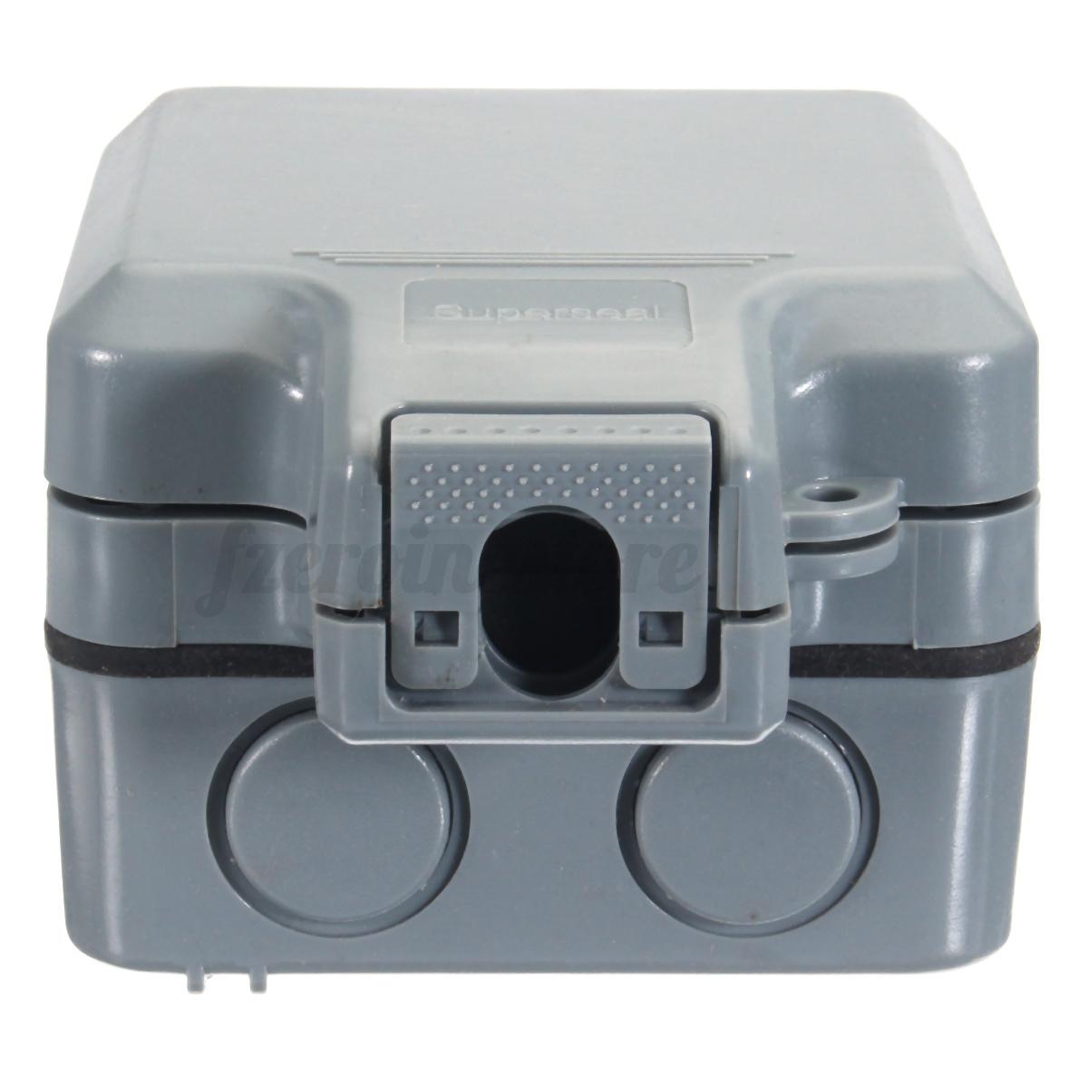 schuko aufputzsteckdose doppel schalter feuchtraum au enbereich ip65 13a 230v ebay. Black Bedroom Furniture Sets. Home Design Ideas
