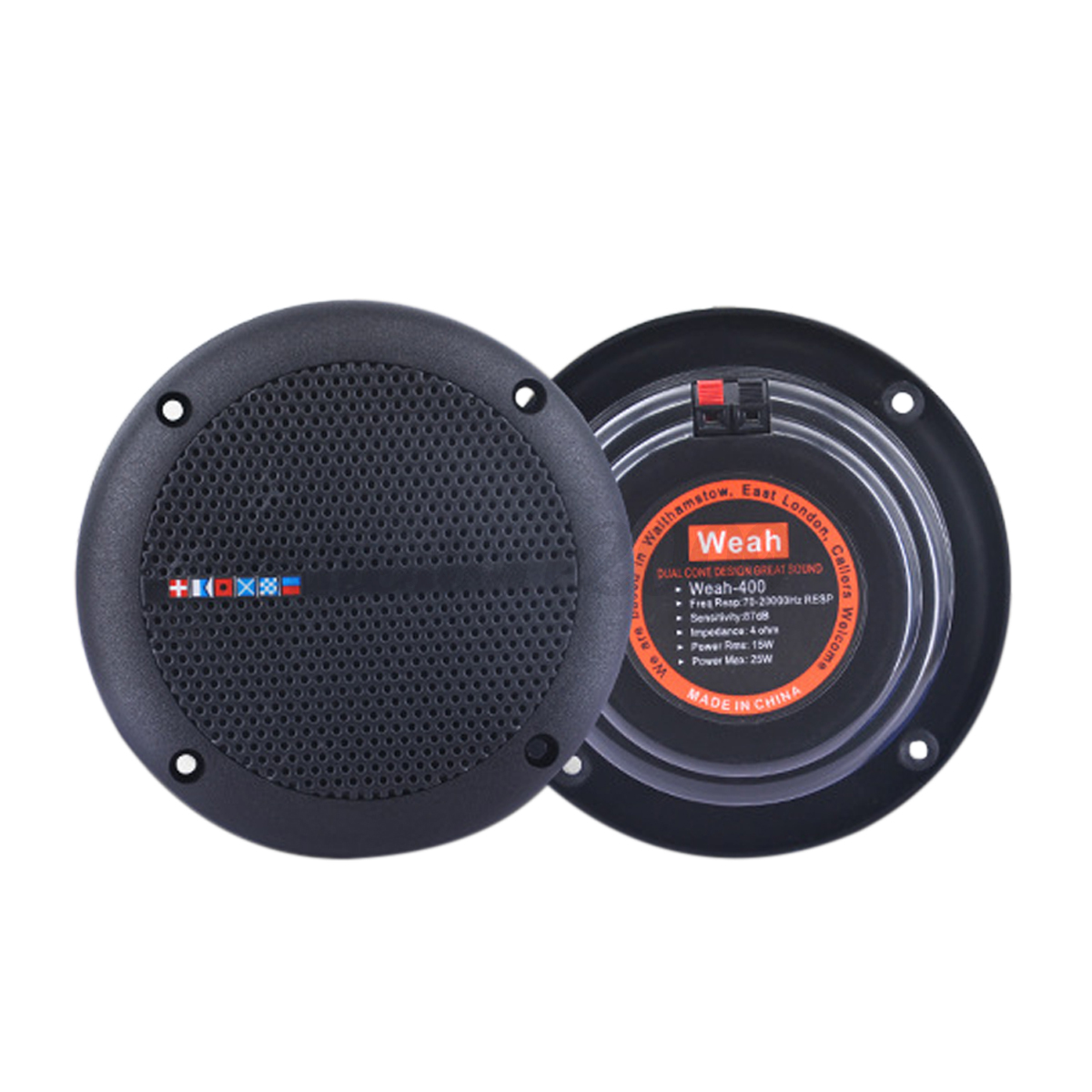 2pcs Home Waterproof Ceiling Speakers Kitchen Bathroom