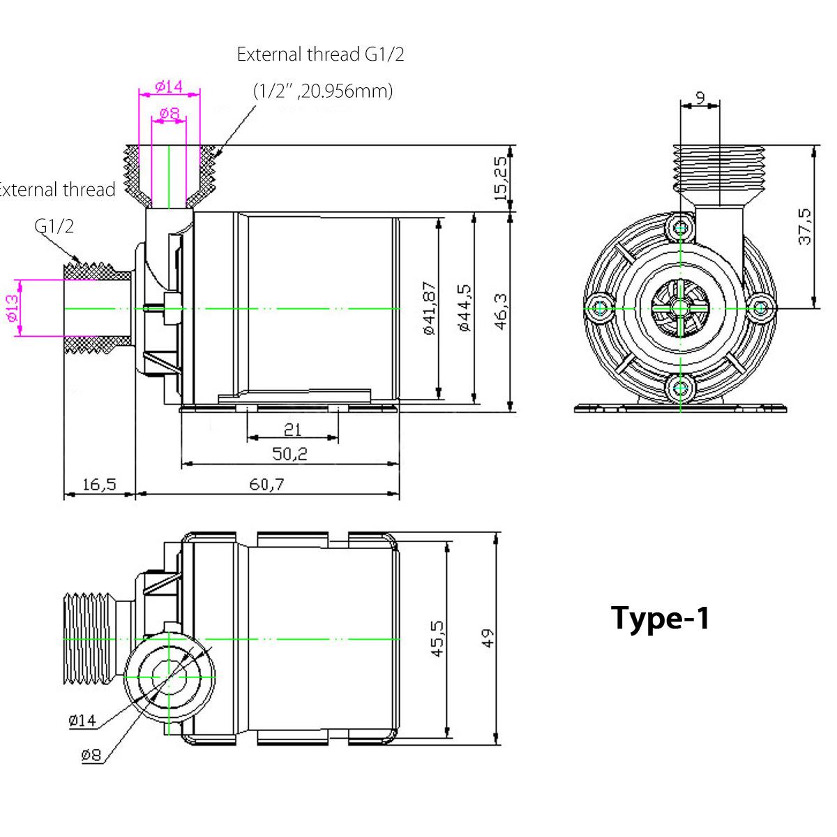 dc 12v 24v solar sumergible bomba de agua brushless