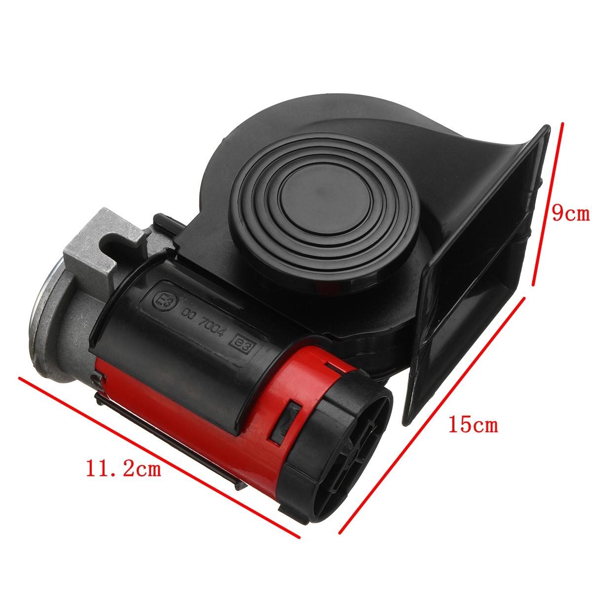 12v 139db Car Electric Air Horn Compact Dual Tone Pump Loud Train Two