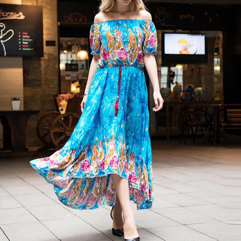 Womens-Summer-Boho-Off-Shoulder-Floral-Print-Asymmetrical-Beach-Long-Maxi-Dress
