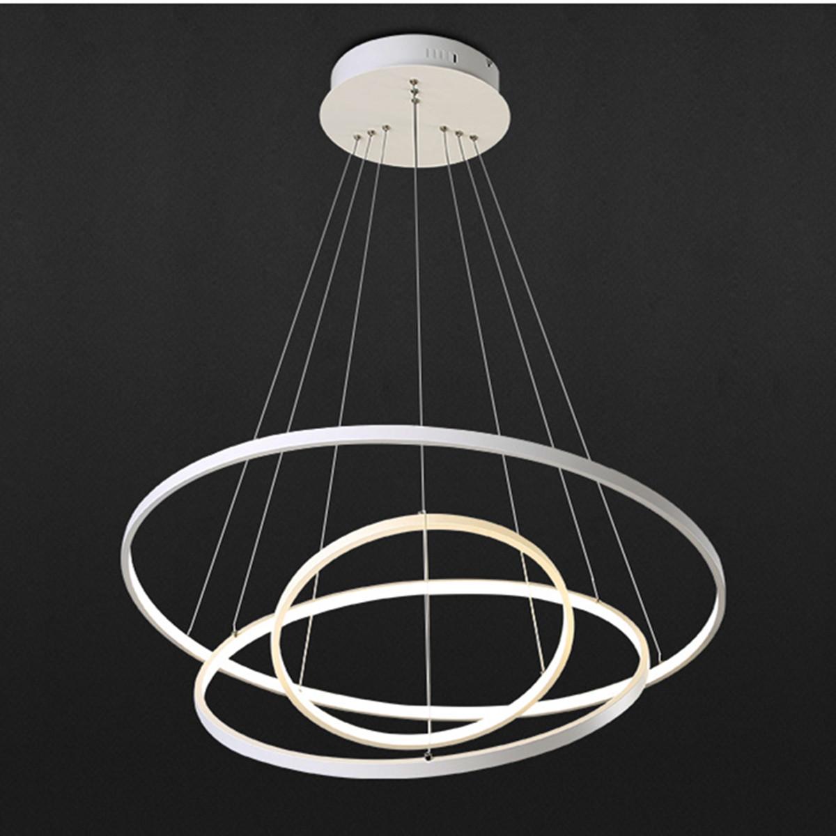 Acrylic Led Ring Chandelier Pendant Lamp Ceiling Light: Modern Circular Ring Pendant Light Acrylic Aluminum LED