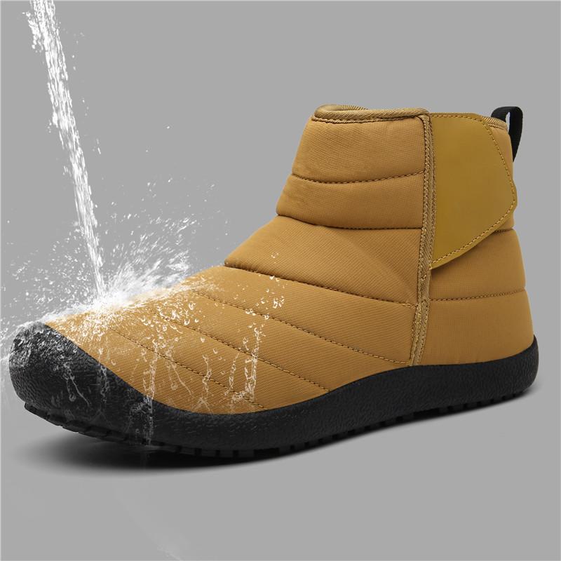Men Winter Warm Waterproof Plush Lining