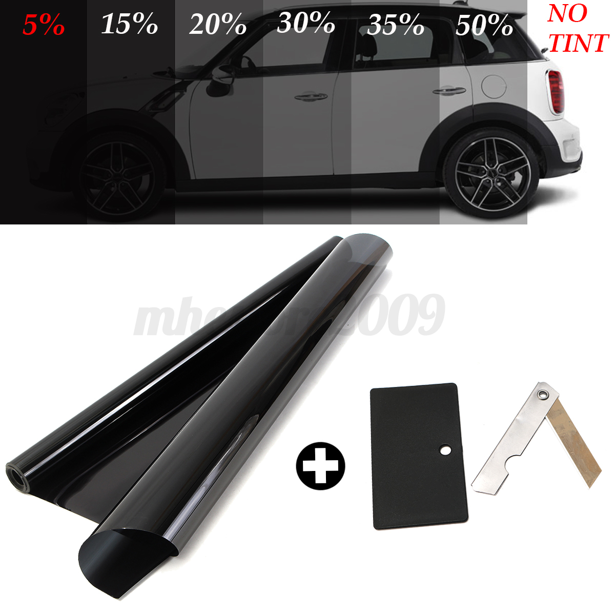 2ply 20 39 39 x 10ft 5 vlt black car home glass window tint for 2 for 1 window tinting