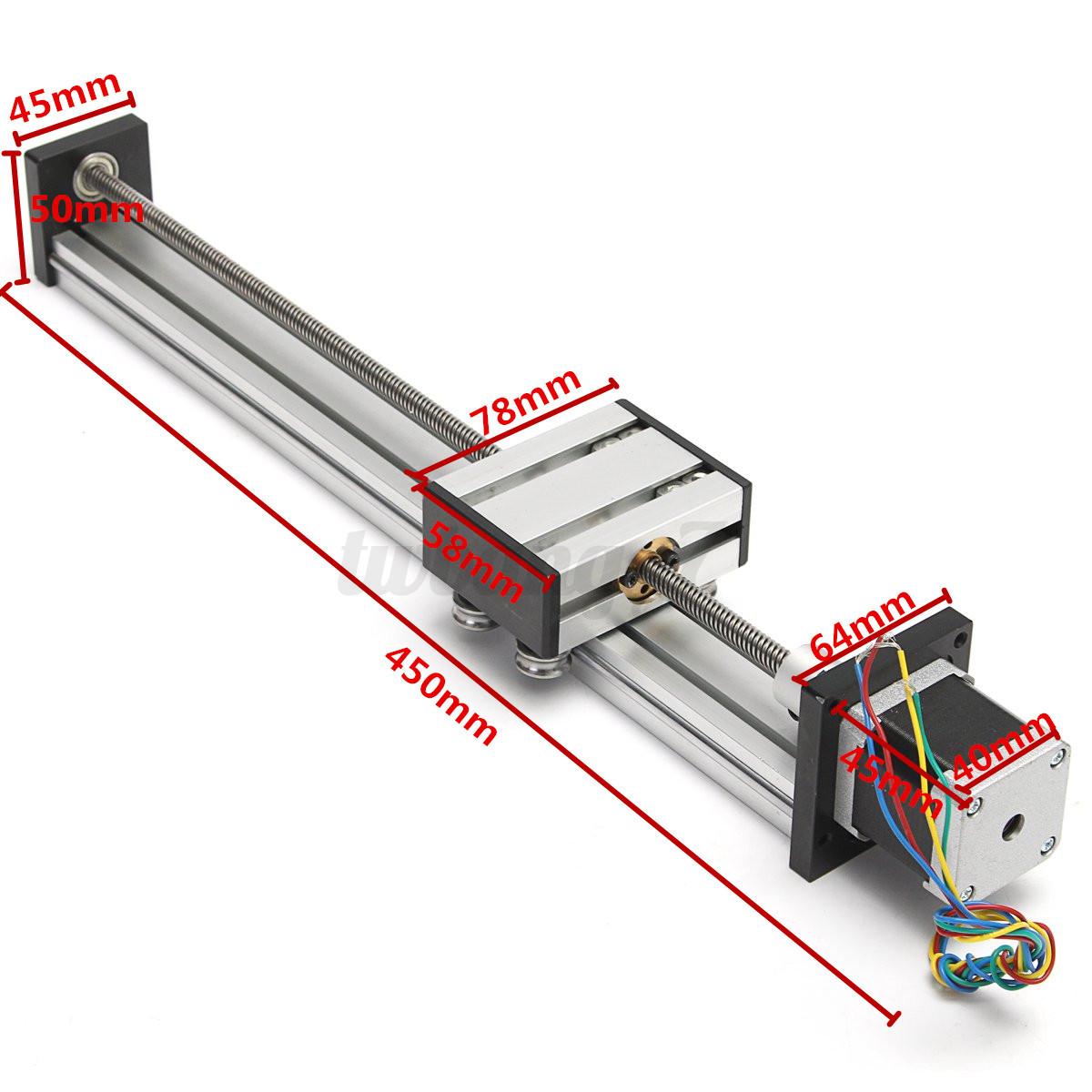300mm Cnc Router Linear Motion Actuator Slide Rail 12
