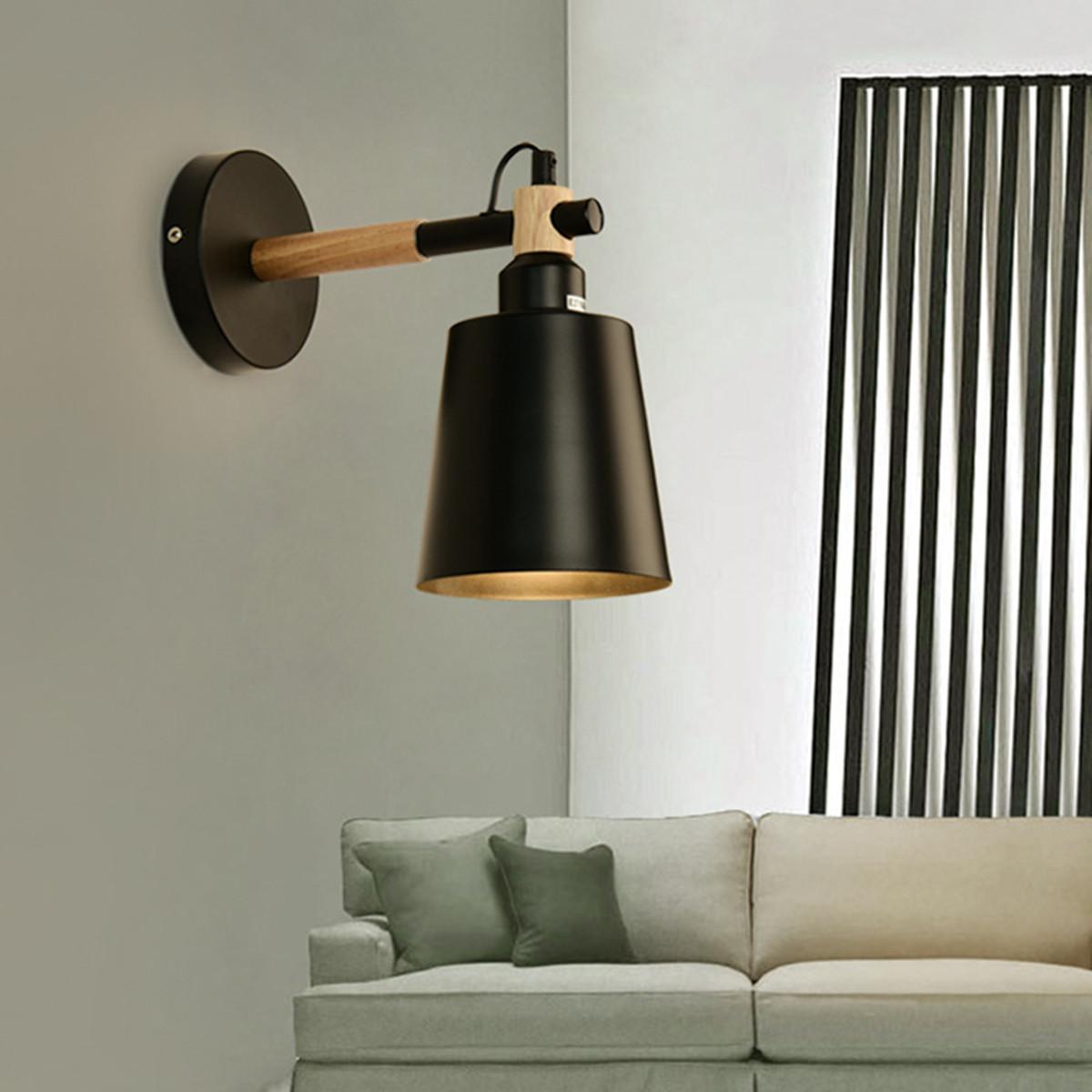 Retro-Vintage-Industrielle-Applique-Eclairage-Lampe-Luminaire-Mural-Abat-jour