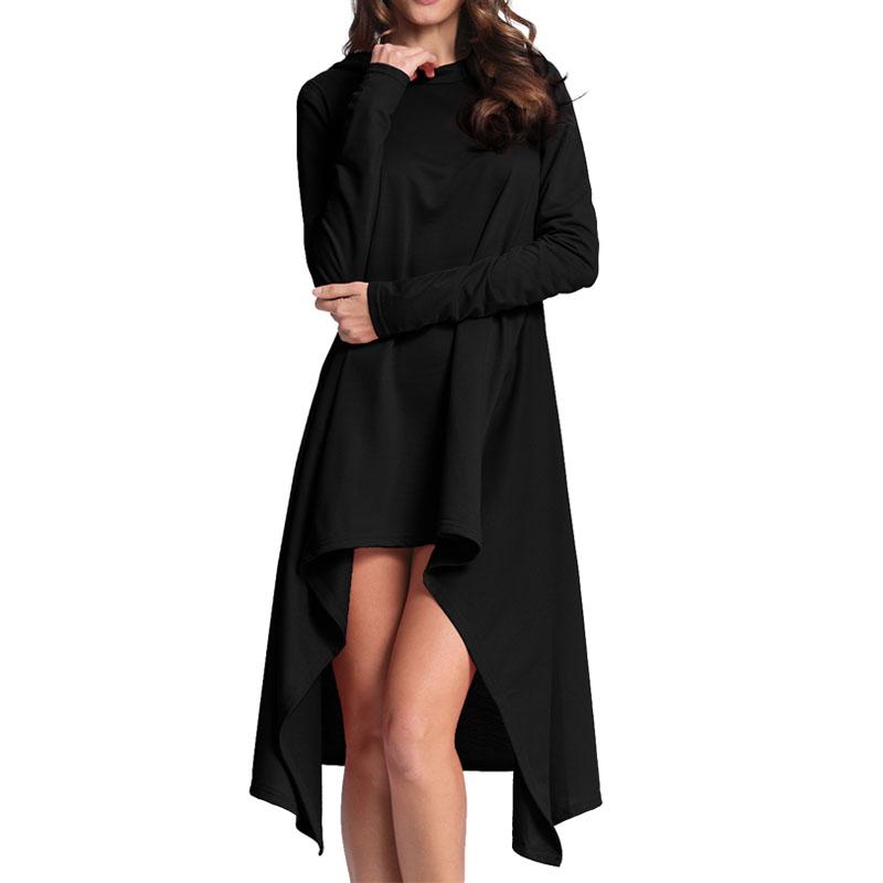 Women-Hooded-Flare-Swing-Long-Sleeve-Plus-Size-Tunic-Top-Blouse-Tee-Shirt-Dress