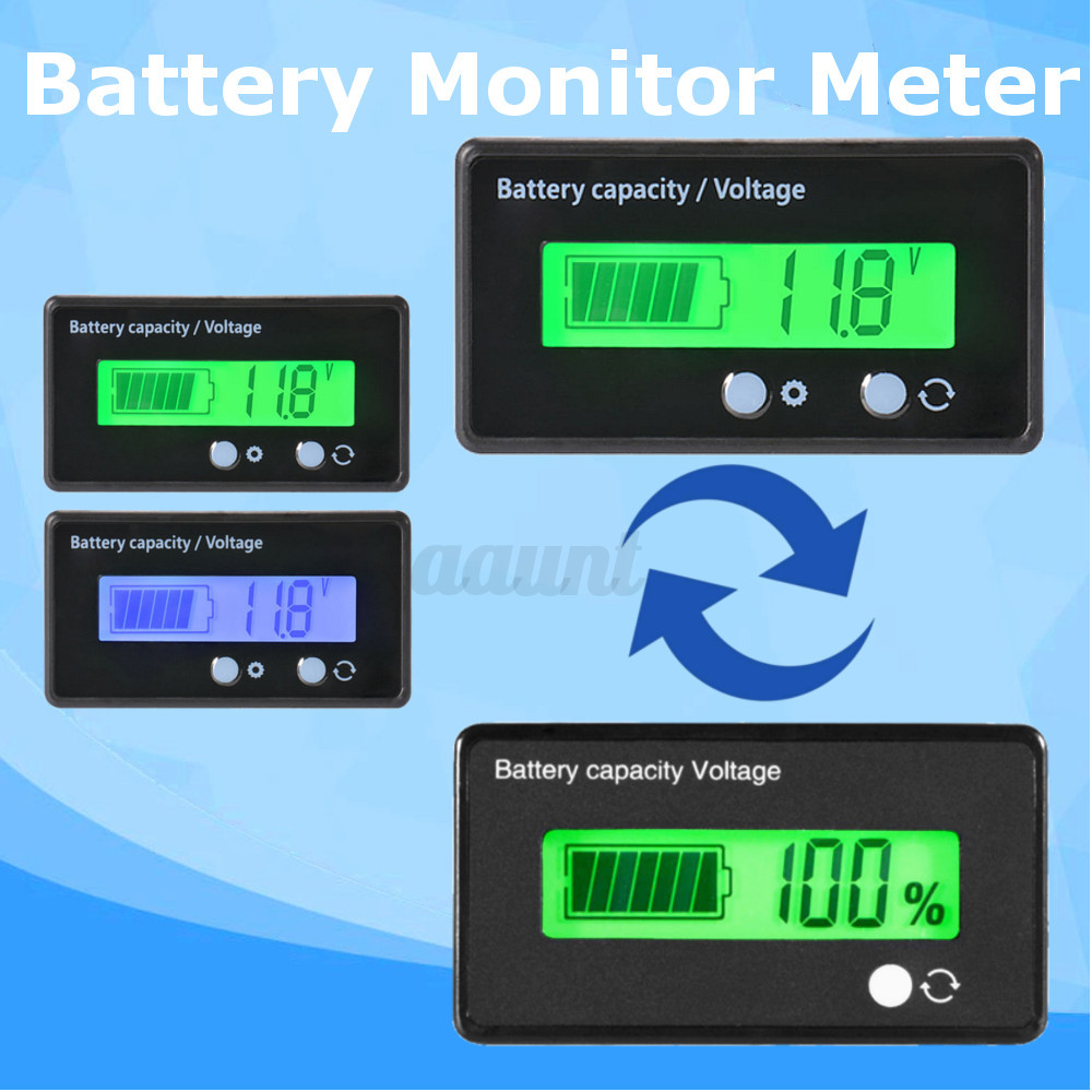 Battery Status Monitor : Lcd v lead acid battery status voltmeter