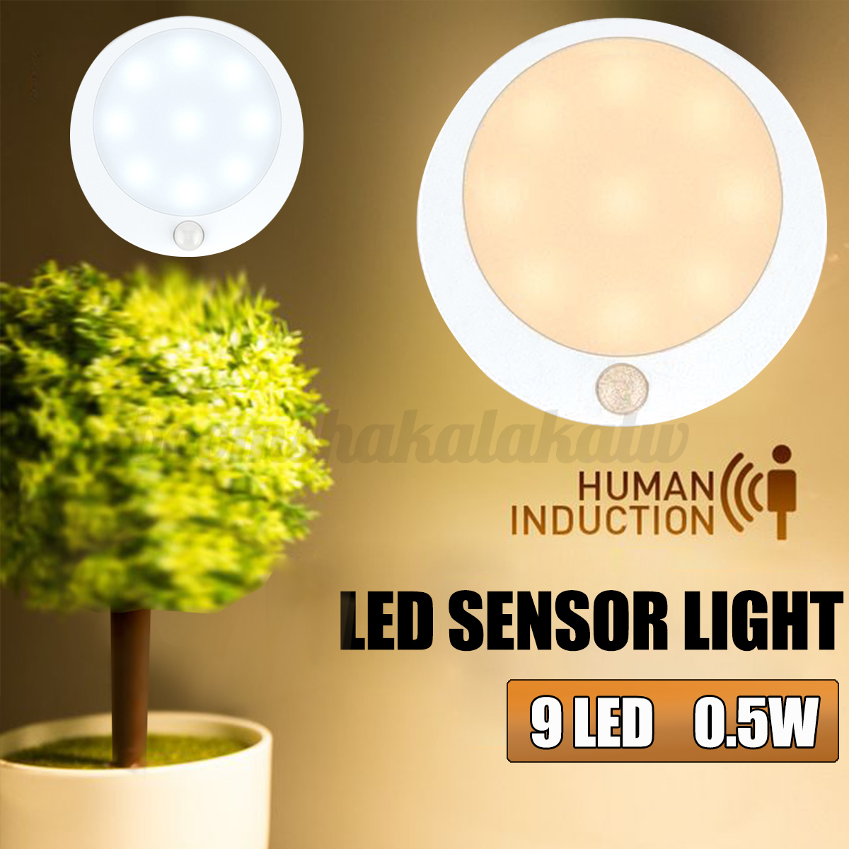 Wireless LED Light Night Human Infrared InductionLight Sense Corridor Wardrobe