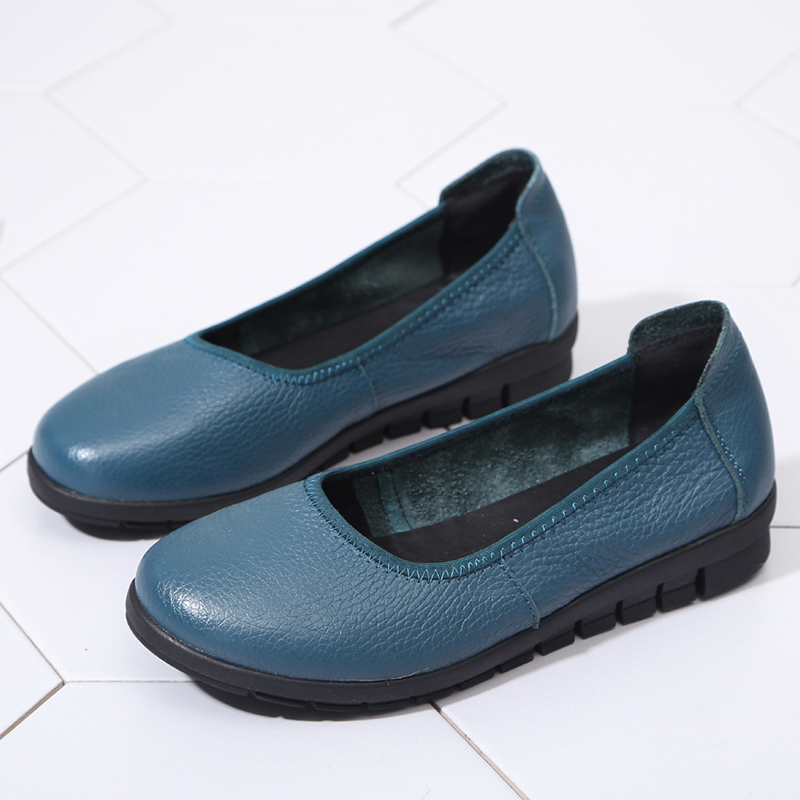 3a416923f9d Details about SOCOFY Women Casual Loafers Ladies Slip On Leather Soft Sole  Non Slip Flat Shoes