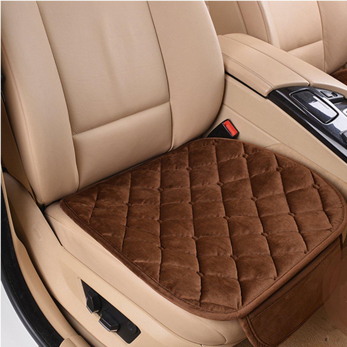 new plush anti slip car seat cover small mat rhombus pattern auto chair cushion ebay. Black Bedroom Furniture Sets. Home Design Ideas