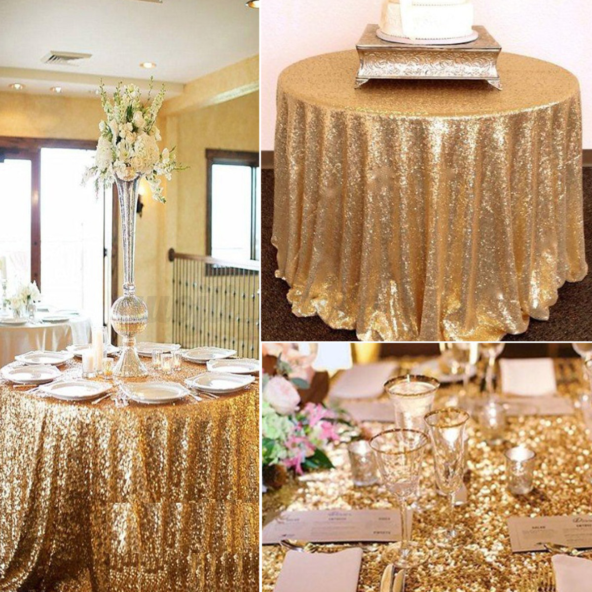 120cm round sparkly sequin banquet tablecloth for wedding event image is loading 120cm round sparkly sequin banquet tablecloth for wedding junglespirit Choice Image