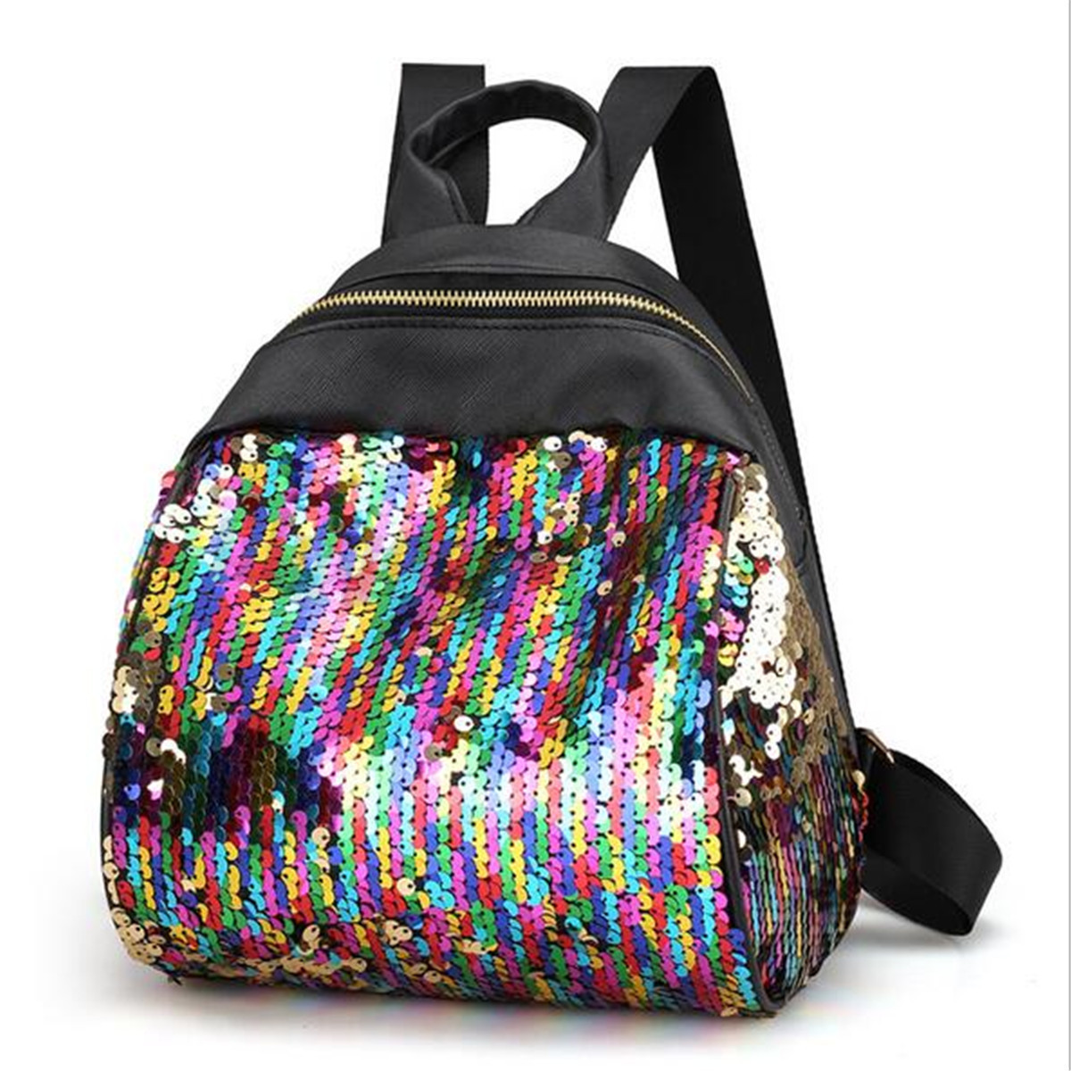 women leather backpack school shoulder bag girls rucksack