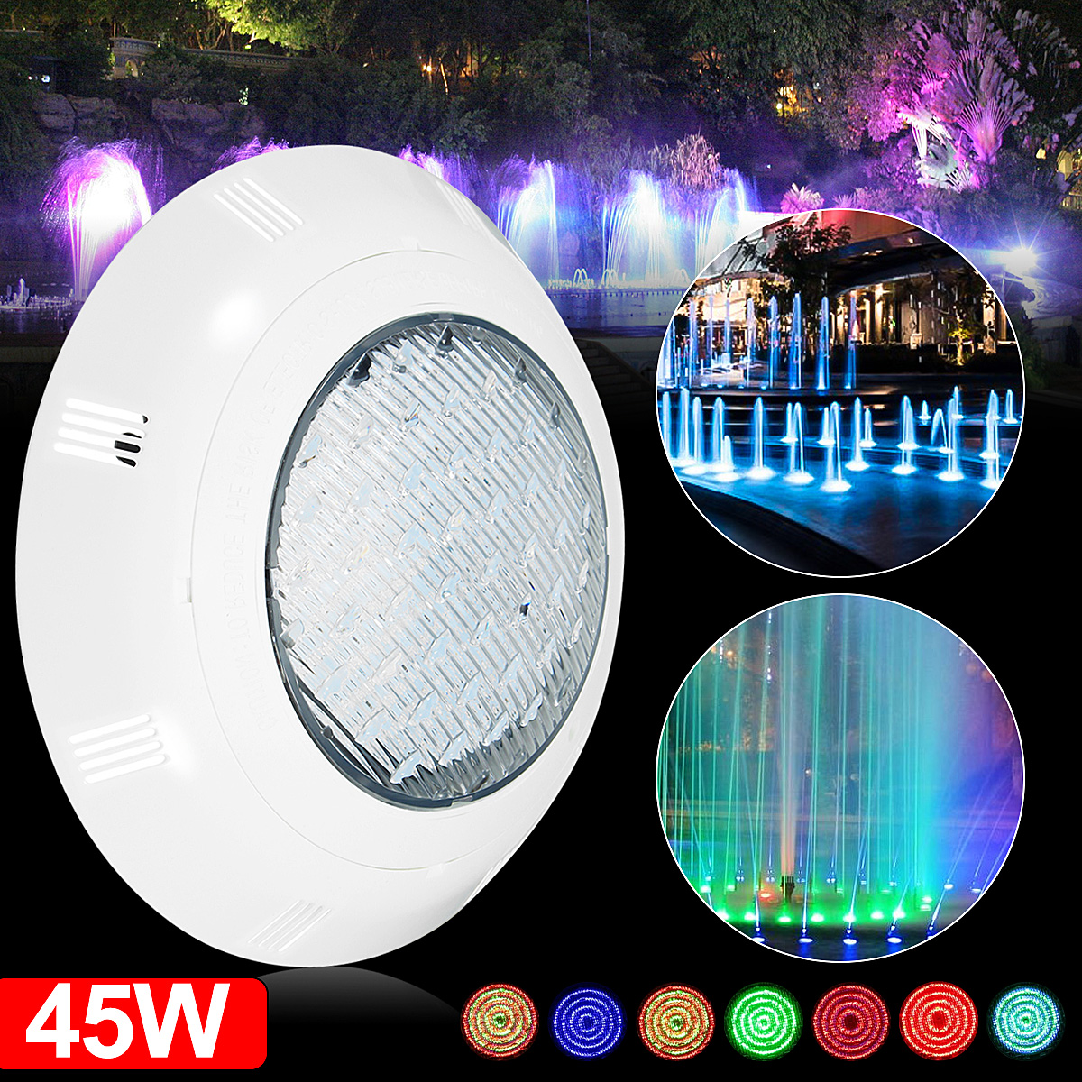 Underwater Led Light Fountains Pond Lights Bath Spa Tub Swimming Pool Light Rgb Ebay