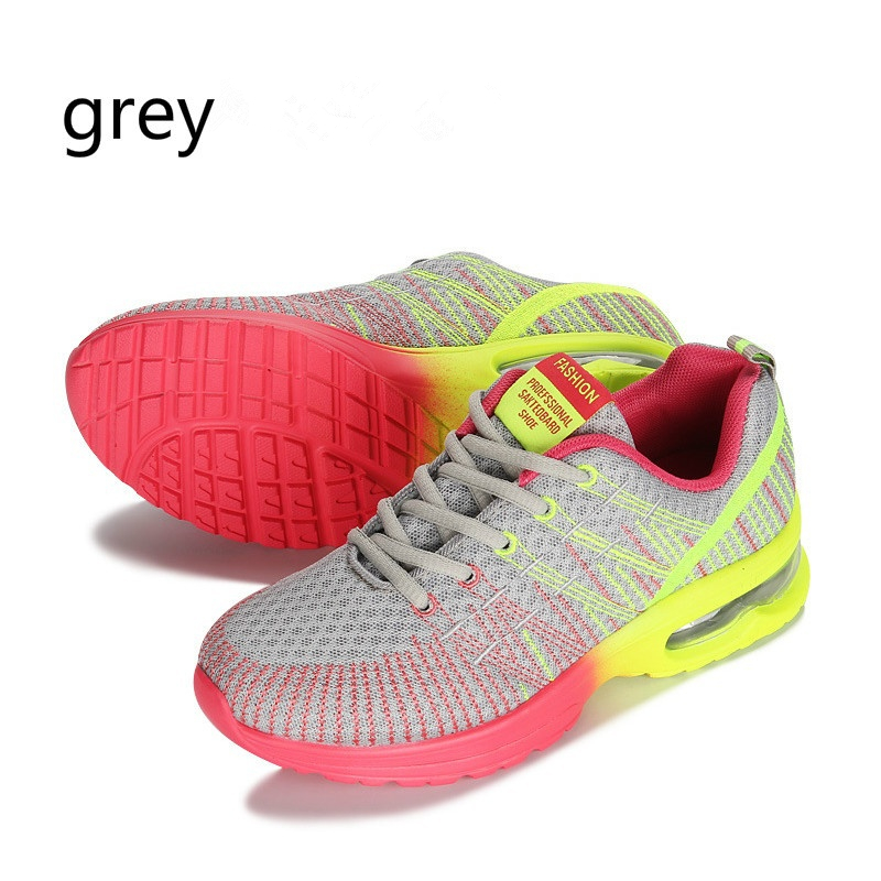 Femme-Chaussure-Respirable-Colore-Shock-Absorber-Air-Cushion-Casual-Running-Shoe miniature 12