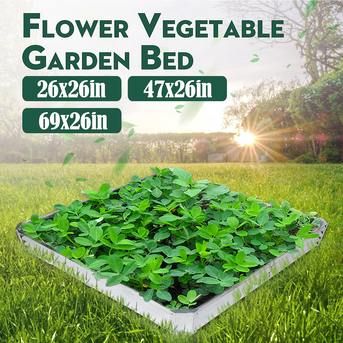 Picture of: Metal Raised Garden Beds Patio Backyard Flower Vegetable Planter Basket Box Us Ebay