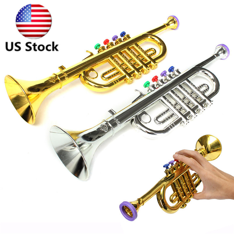 Mini Plastic Horn Trumpet Musical Instrument Toy Simulation Educational Kid  S
