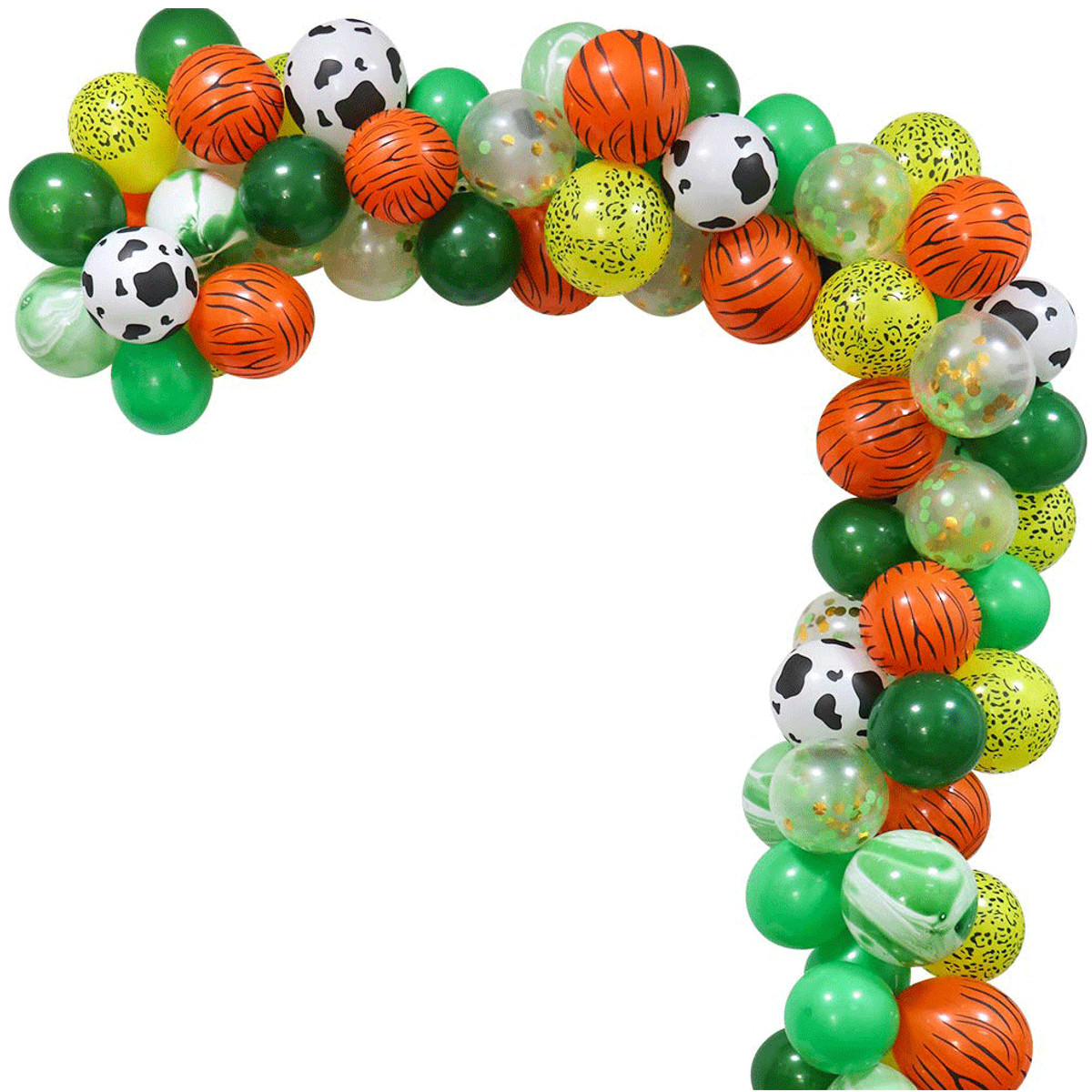 75X Balloons+Leaves+Paper Poms+Banner+Pump Jungle Party Balloons Decoration Kit