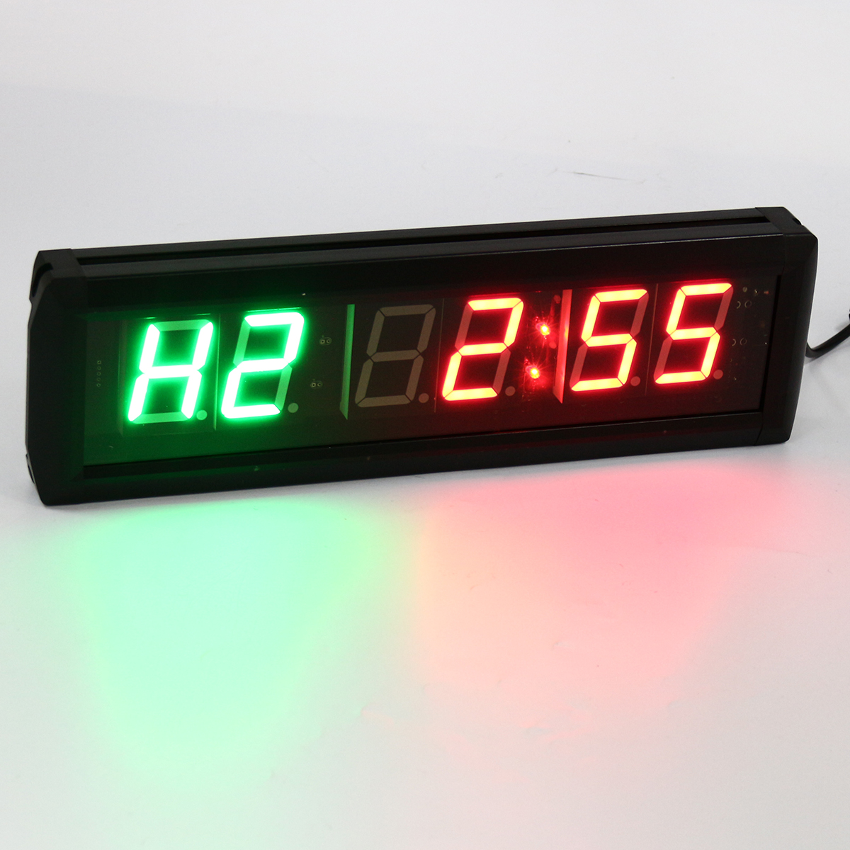 Au 1 8 Quot Inch Led Interval Timer Wall Clock W Remote