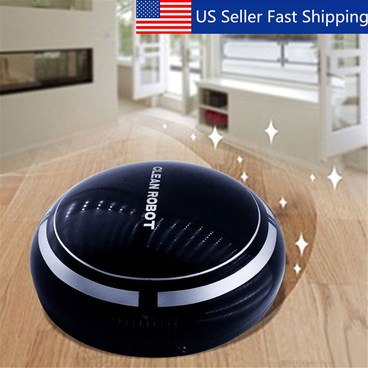 Smart Robot Vacuum Mop Automatic Floor Cleaner Dust Sweep Cl