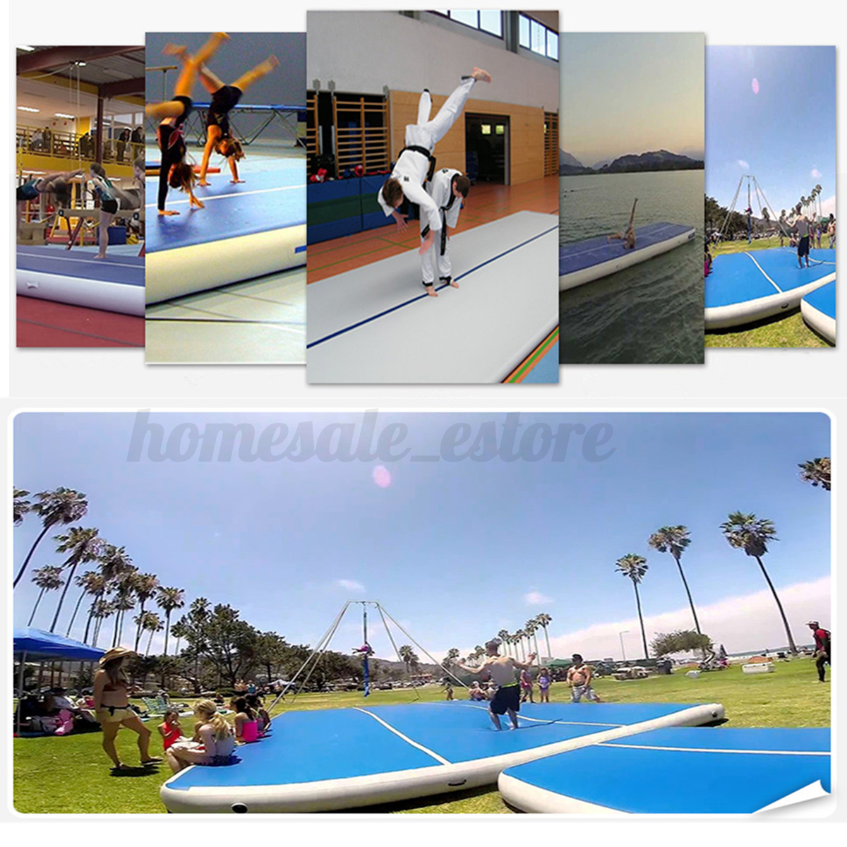 airtrack air track floor home inflatable gymnastics tumbling training mat gym ebay. Black Bedroom Furniture Sets. Home Design Ideas