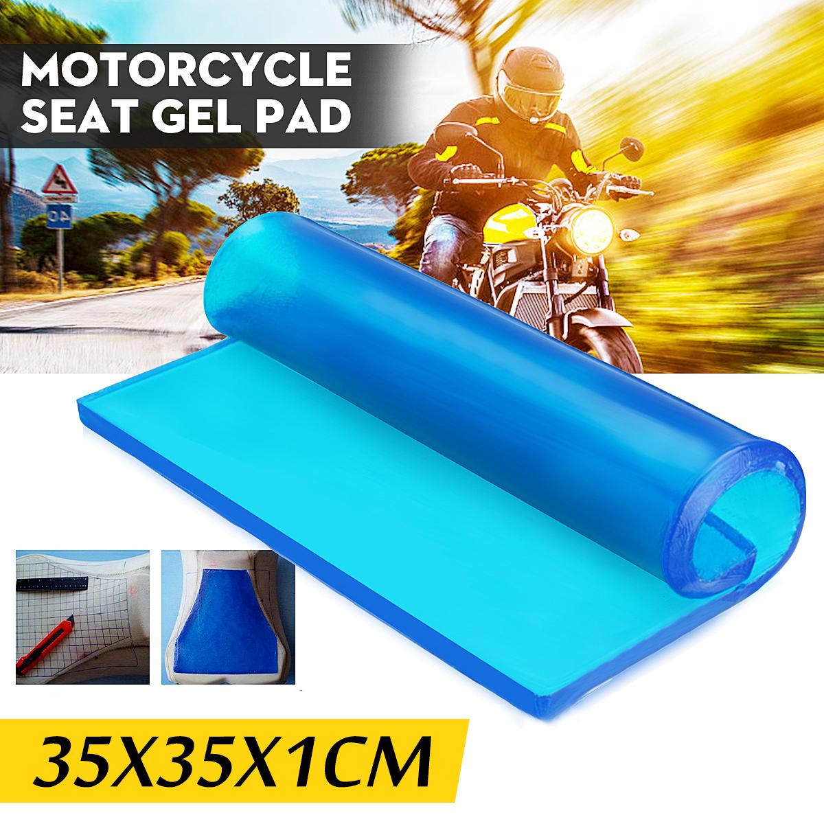 35*35*1cm Motorcycle Seat Gel Pad Cushion Motorbike Bicycle Elastic Fiber Mat