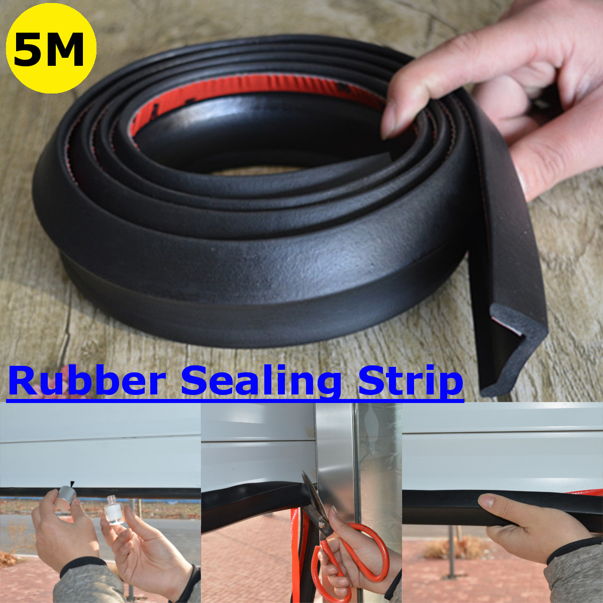 Details about 5m Garage Door Weather Seal Strip Bottom Stripping Rubber  Replacement