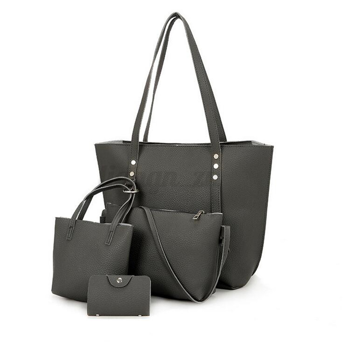 4pcs-Women-Leather-Handbag-Lady-Shoulder-Bags-Tote-Purse-Messenger-Satchel-Set