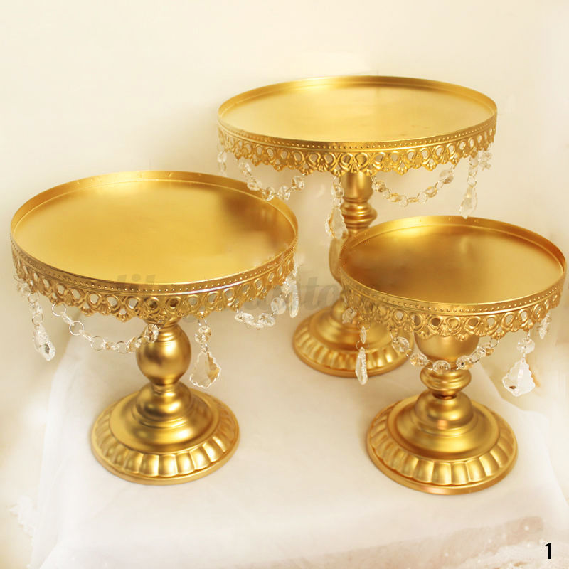 crystal cake stands for wedding cakes uk 3pcs metal cake holder cupcake stand display 13106