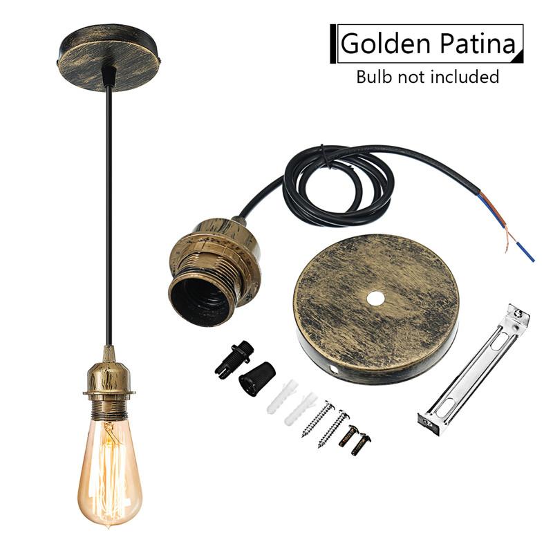 Light Fixture Base: E27 Vintage Iron Ceiling Pendant Light Lamp Bulb Holder