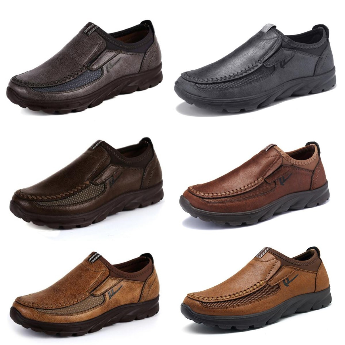 Men-039-s-Casual-Leather-Slip-On-Driving-Loafers-Antiskid-Moccasins-Breathable thumbnail 3