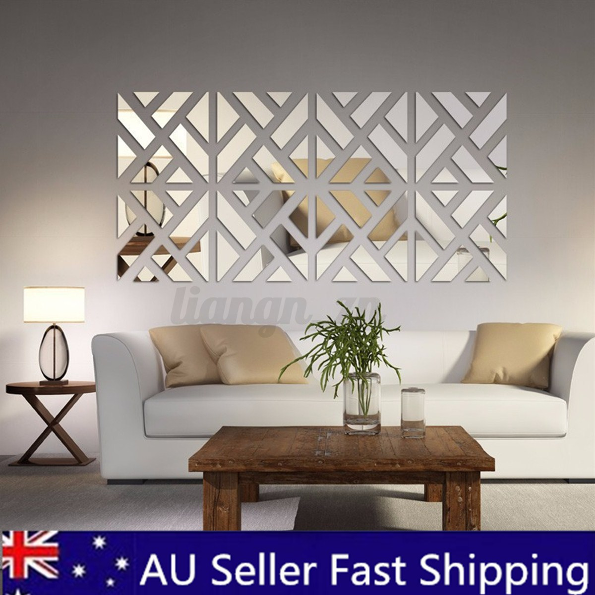 3d removable 32pcs mirror acrylic wall sticker diy art vinyl decal home decor ebay - Wall decor mirror home accents ...