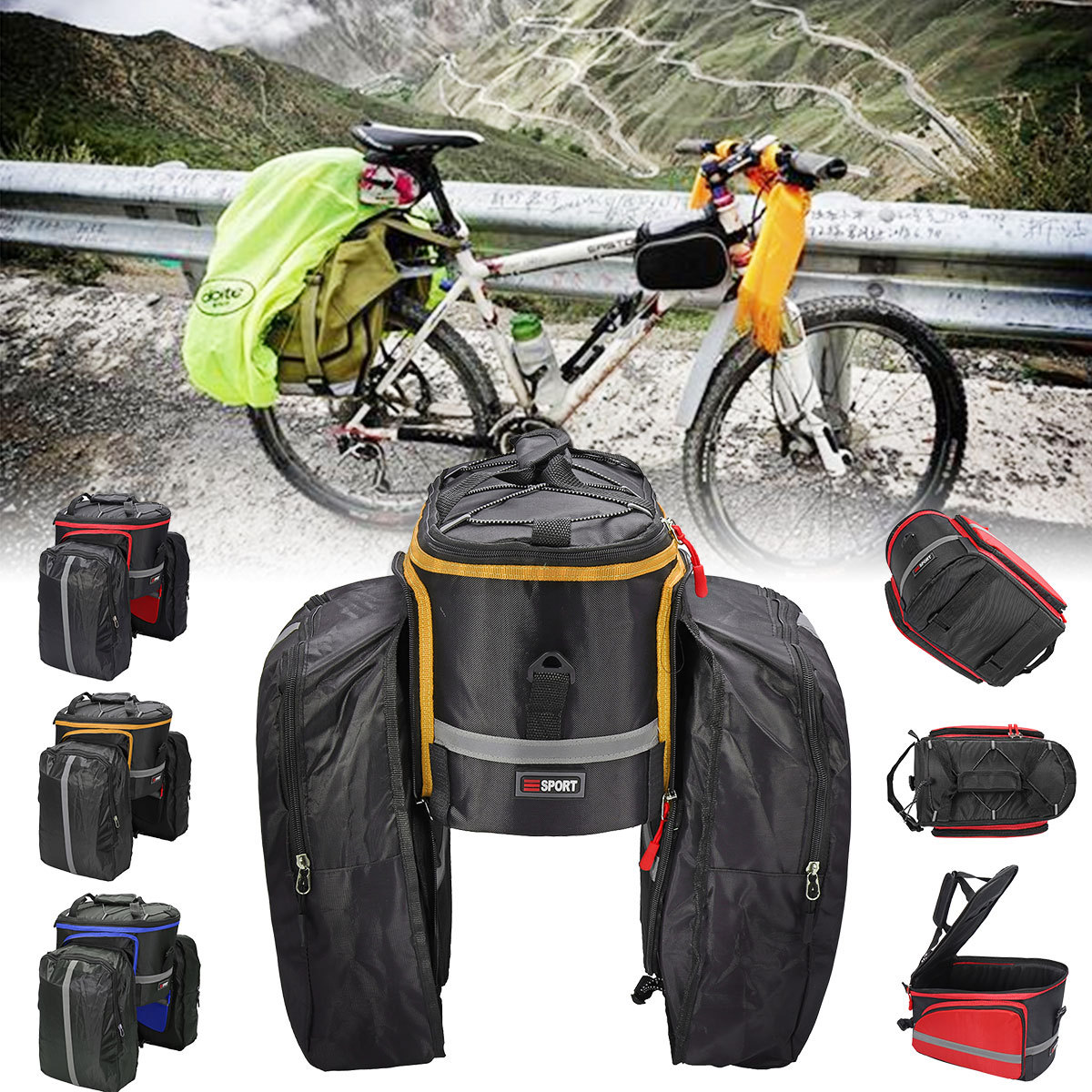 Image Is Loading Cycling Bike Pannier Bag Mtb Bicycle Rear Seat