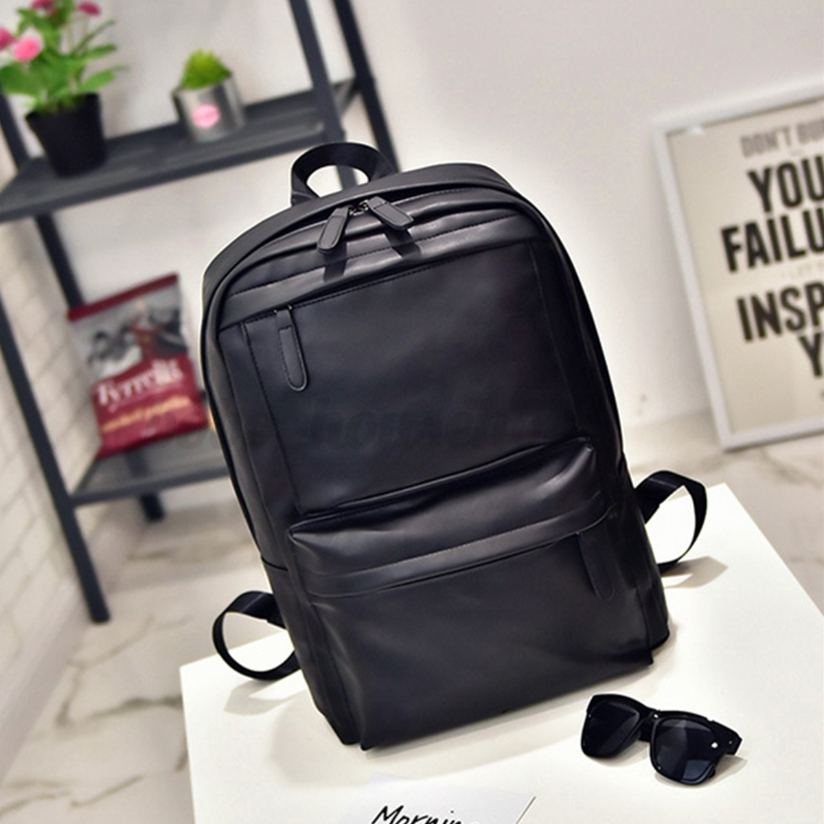 Vintage Men Women Leather Backpack Travel Satchel Rucksack Shoulder School Bag