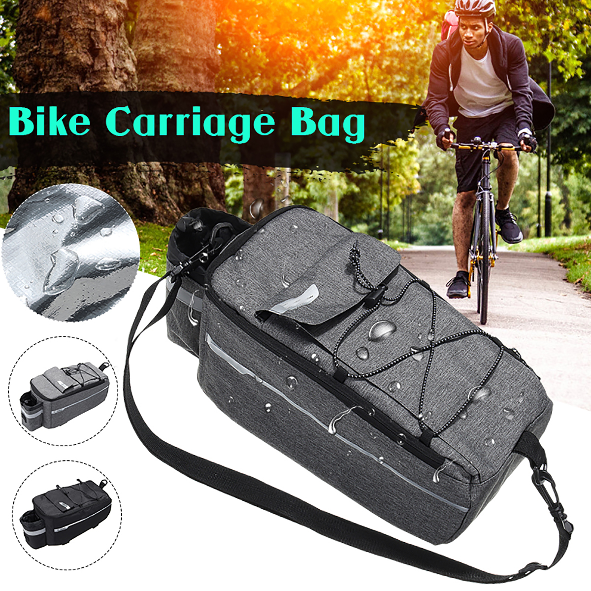 Bicycle MTB Cycling Reflective Saddle Bag Tail Rear Pannier Pouch Seat Bag carch