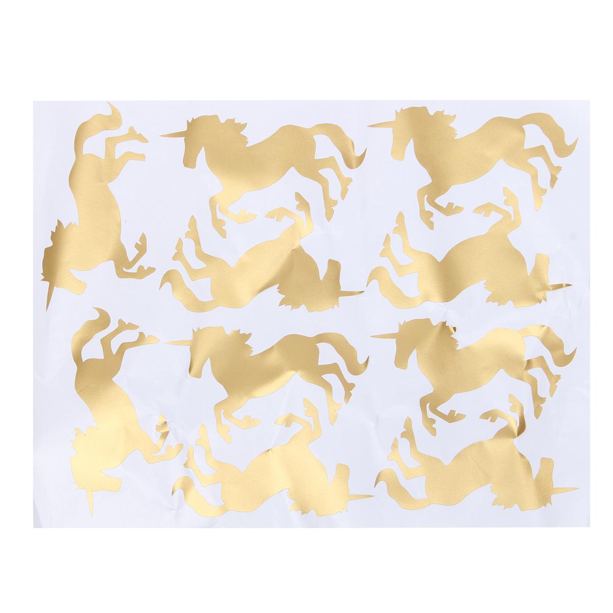 10pcs Unicorn Wall Art Rearing Unicorn Wall Stickers Glitter Colors ...